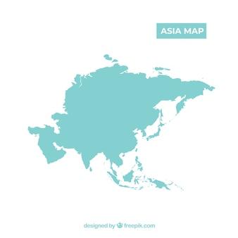 Mapa de asia en estilo plano