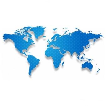 Mapa azul con puntos