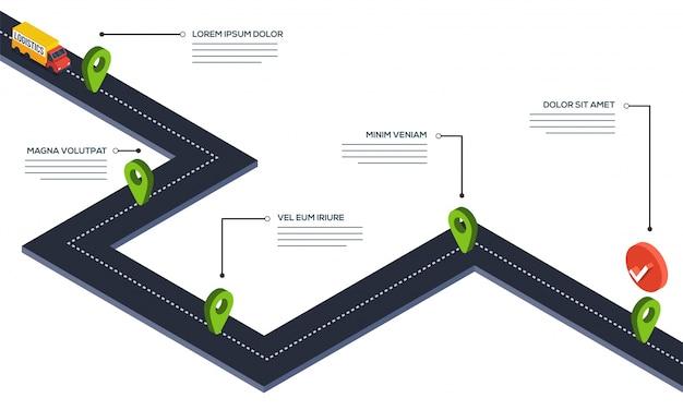 Mapa de carreteras navigaion. ilustración 3d.