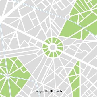 Mapa de la ciudad de color con calles y parque