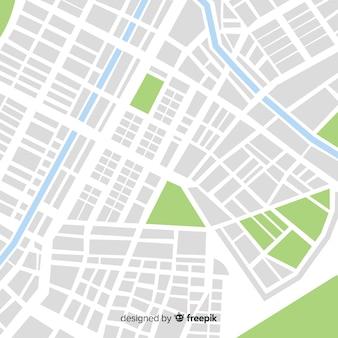 Mapa de la ciudad coloreada con parque y calles