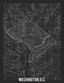 Mapa de la ciudad de washington.