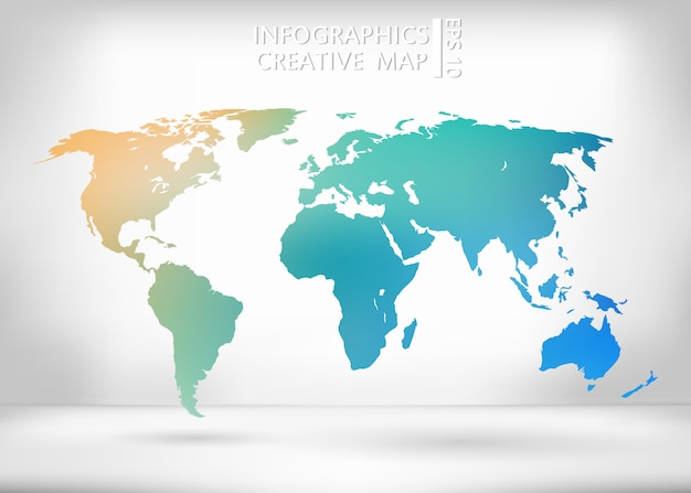 Mapa creativo del vector del mundo.