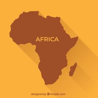 Mapa de africa en estilo plano