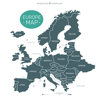 Mapa de europa decorativo