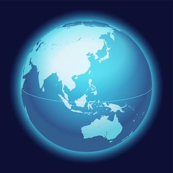 Mapa del globo del mundo del vector