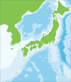 Mapa de ilustración vectorial del territorio japonés