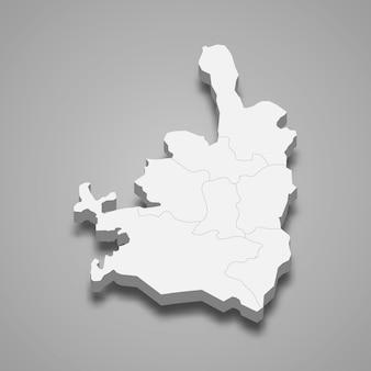 Mapa isométrico 3d de jerusalén es una ciudad de israel