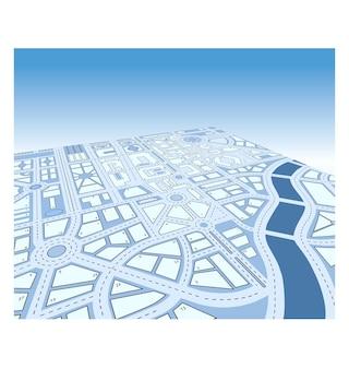 Mapa isométrico del vector de la ciudad