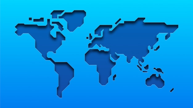 Mapa mundial azul