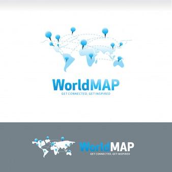Mapa mundial enlaces logo