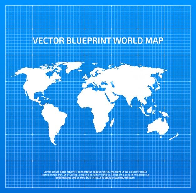 Mapa mundial de planos