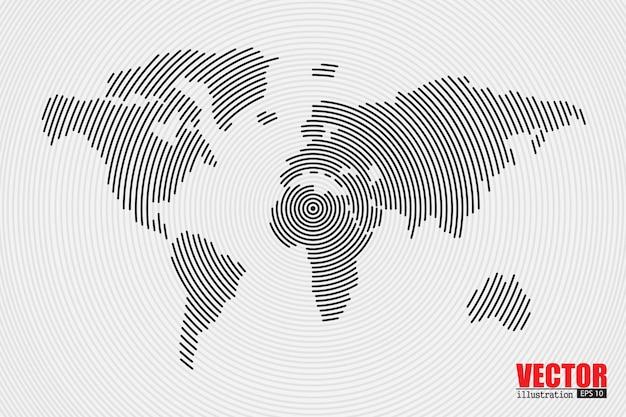 Mapa del mundo abstracto