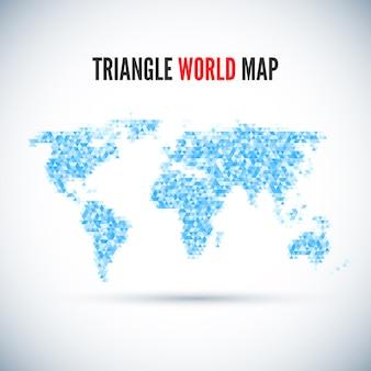 Mapa del mundo triángulo