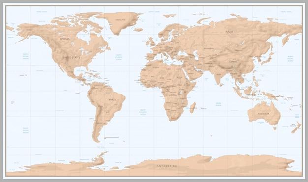Mapa del mundo vintage