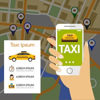 Mapa de navegación del taxi