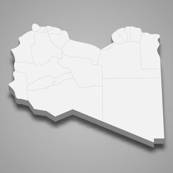 Mapa del país con fronteras de regiones