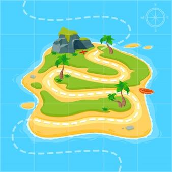 Mapa del tesoro para el juego.