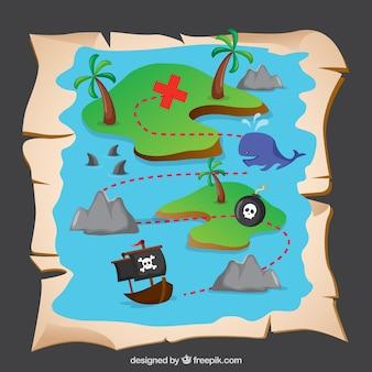 Mapa de tesoro pirata
