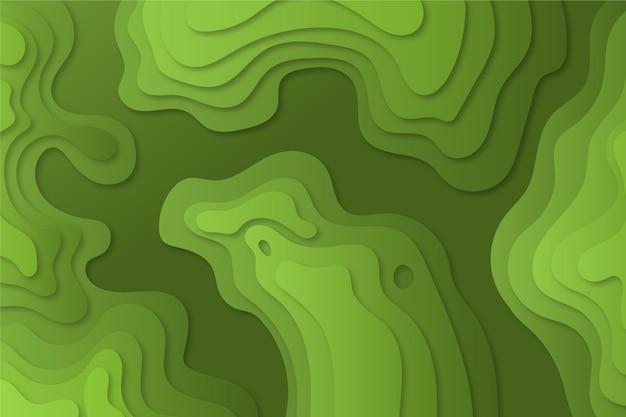 Mapa topográfico líneas de contorno sombras verdes