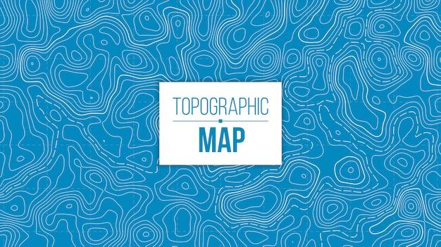 Mapa topográfico. red de senderos de montaña.