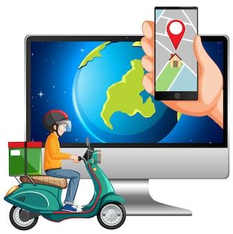 Mapa y ubicación en dispositivos electrónicos