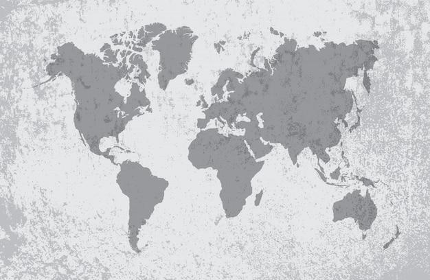 Mapa del viejo mundo sucio