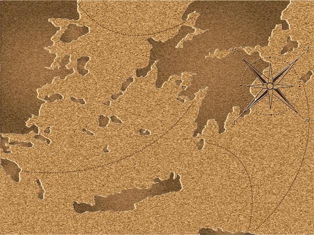 Mapa vintage de corcho