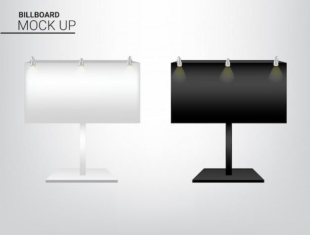 Maqueta 3d pantalla de cartelera realista