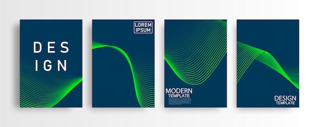 Maqueta abstracta a4 patrón azul y cartel de fondo con triángulo dinámico. tecnología red de partículas de niebla ilustración de seguridad cibernética.