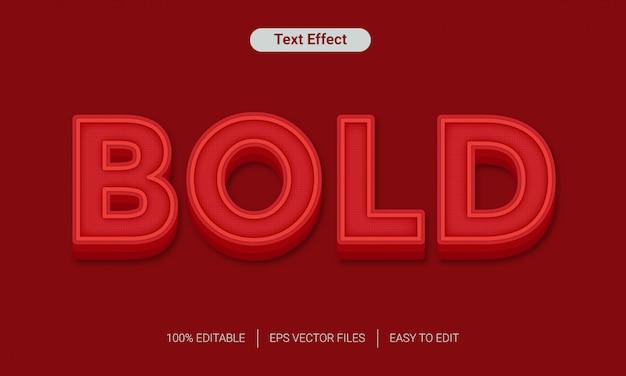 Maqueta de archivos de efecto de texto en negrita roja