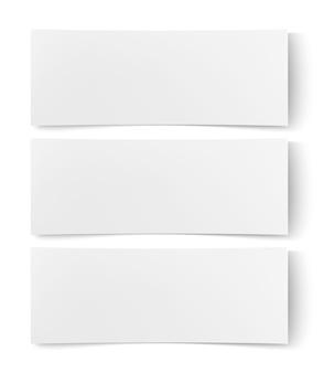 Maqueta de banner de web de cartel de cartel vacío de papel blanco en blanco
