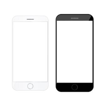 Maqueta en blanco teléfono inteligente teléfono inteligente