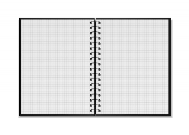 Maqueta de bloc de notas en espiral