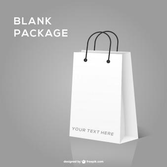 Maqueta de bolsa de compras en blanco