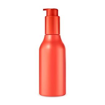 Maqueta de botella de bomba cosmética envase de suero facial envase de crema de base