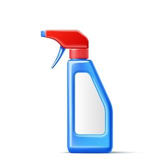 Maqueta de botella de spray de detergente realista