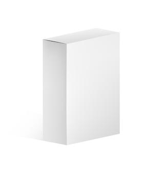Maqueta de caja rectangular estrecha
