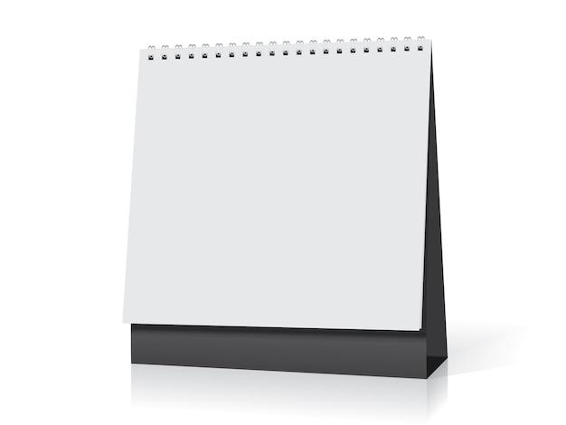 Maqueta de calendario espiral de escritorio de papel