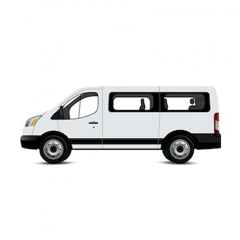 Maqueta de camioneta blanca