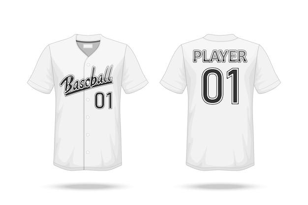 Maqueta de la camiseta del béisbol de la especificación