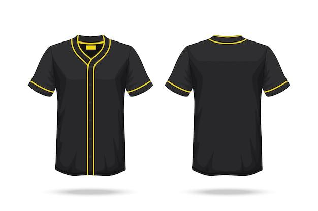Maqueta de la camiseta del béisbol