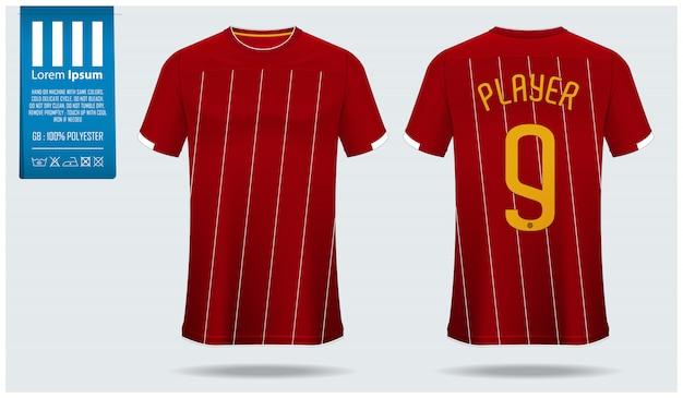 Maqueta de camiseta de fútbol o plantilla de kit de fútbol.
