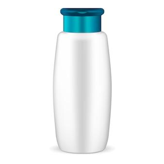 Maqueta de champú blanco botella cosmética