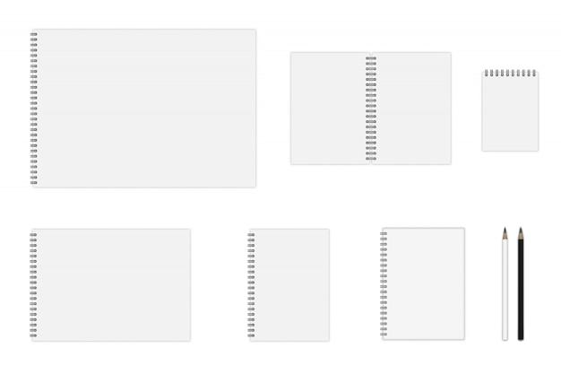 Maqueta de cuaderno