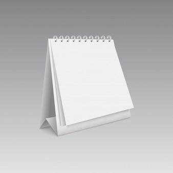 Maqueta de calendario en blanco