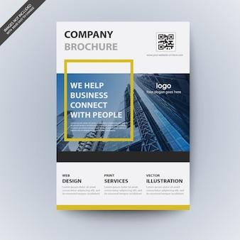 Maqueta de folleto comercial moderno