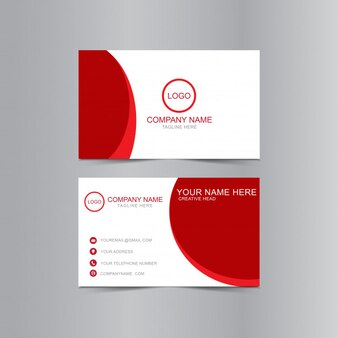 Maqueta de tarjeta de visita ondulada