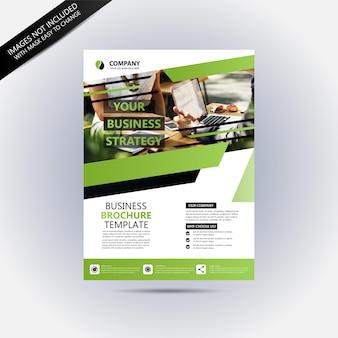 Maqueta de volante de negocios