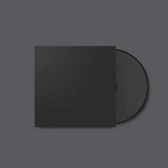 Maqueta de diseño de cubierta de cd